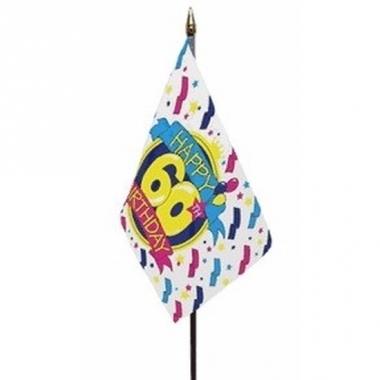 Vlag op stokje happy birthday 60 jaar