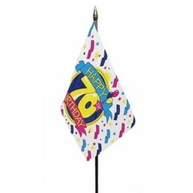 Vlag op stokje happy birthday 70 jaar