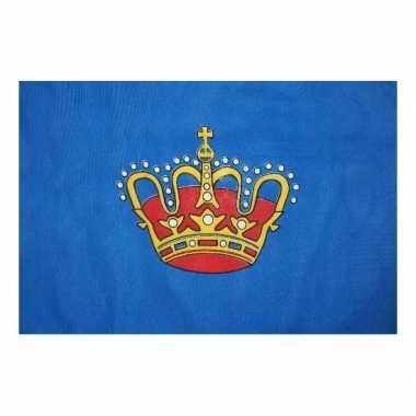 Vlag van de koning 150 x 90 cm kinderfeestje versiering