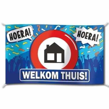 Vlag welkom thuis 100x150 cm