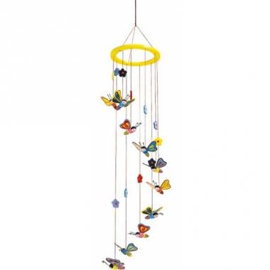 Vlinder Decoratie Babykamer.Vlinder Hangdecoratie Voor Kinderkamer 80 Cm Multinetwerk Nl