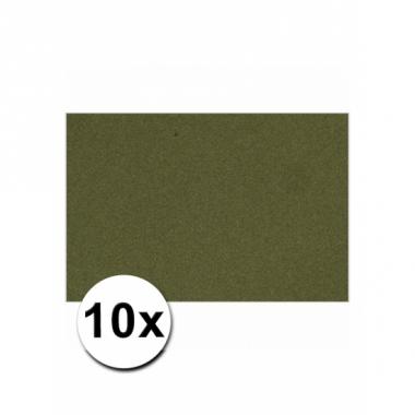 Voordeelpakket 10 donkergroene vellen a4