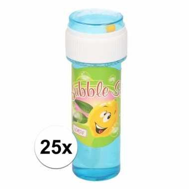 Voordelige bellenblaas citroen geur 25x