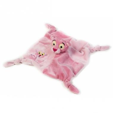 Zacht baby speeldoekje pink panter
