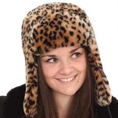 Zachte dames bontmuts tijgerprint