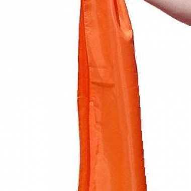 Zachte oranje dames sjaal 140 cm