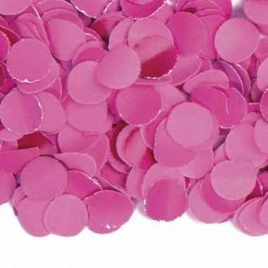 Zak van 1 kg fuchsia roze confetti
