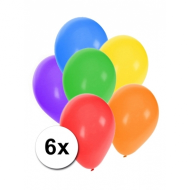 Zakje feestballonnen 6 stuks