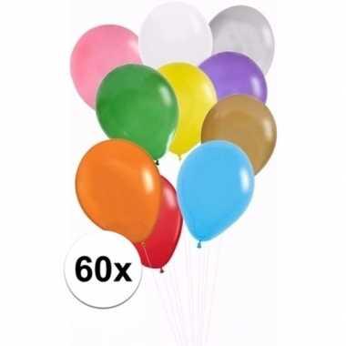 Zakje met 60 gekleurde ballonnetjes