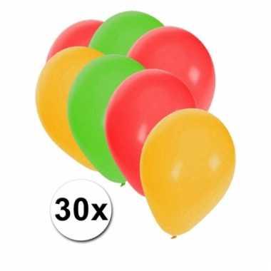 Zakje van 30 carnaval ballonnen