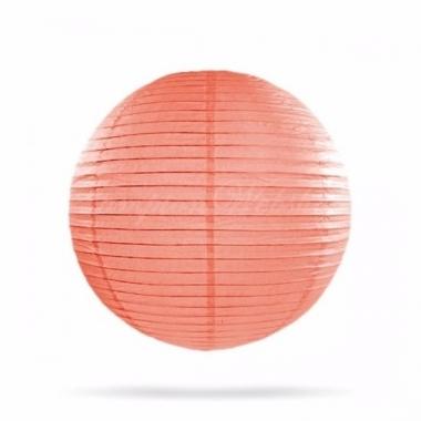 Zalm roze bol lampion 25 cm