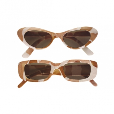 Zand ovale camouflage bril