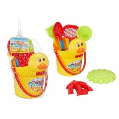 Zandbak speelgoed 7 stuks met eendje
