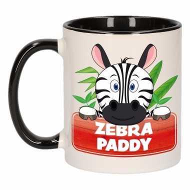 Zebra ontbijtbeker zwart / wit voor kinderen 300 ml