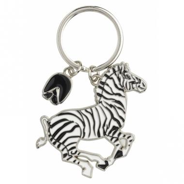 Zebra sleutel hangertje 5 cm