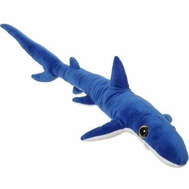 Zeedieren knuffels blauwe haai 110 cm