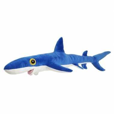 Zeedieren knuffels blauwe haai 60 cm