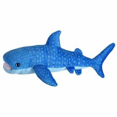 Zeedieren knuffels blauwe vinvis 35 cm