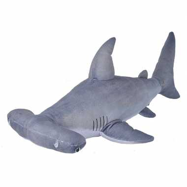 Zeedieren knuffels hamerhaai grijs 55 cm