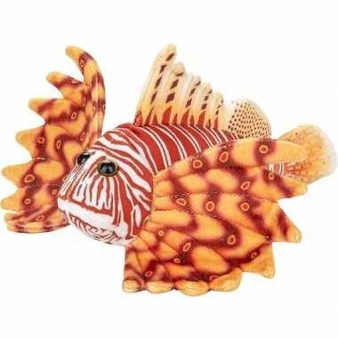 Zeedieren knuffels koraalduivel oranje 21 cm