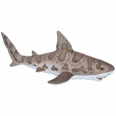 Zeedieren knuffels luipaard haai grijs 60 cm