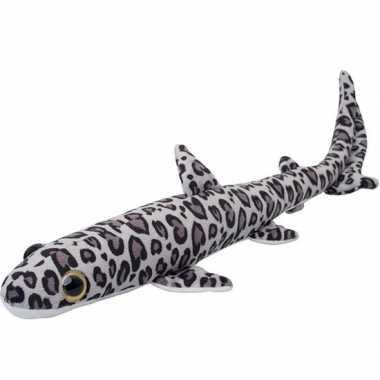 Zeedieren knuffels luipaardhaai gevlekt 60 cm