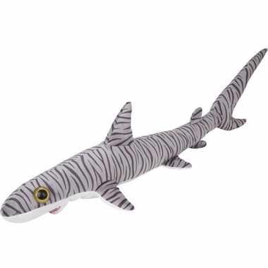 Zeedieren knuffels tijgerhaai gestreept 110 cm