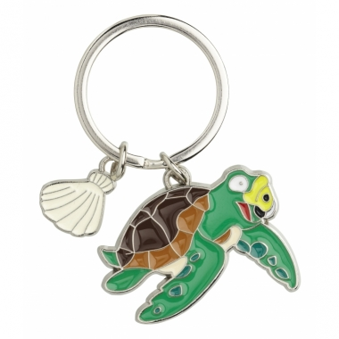 Zeeschildpad sleutel hangertje 5 cm