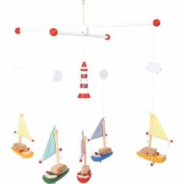 Zeilboten hangdecoratie voor kinderkamer 39 cm