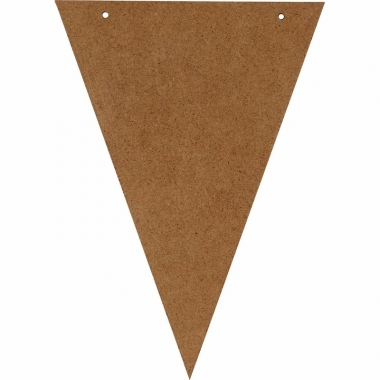 Zelf een vlaggenlijn maken houten vlaggetje 19 cm