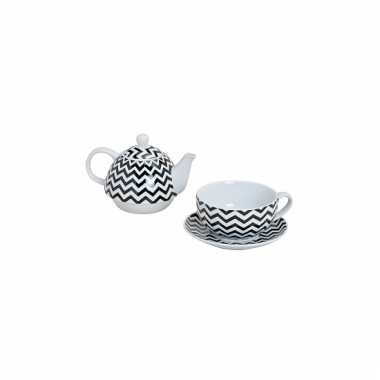 Zigzag tea for one theeservies