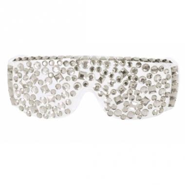 Zilver feestbril met diamanten