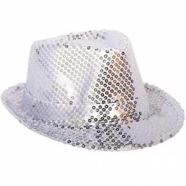 Zilver hoedje bling bling