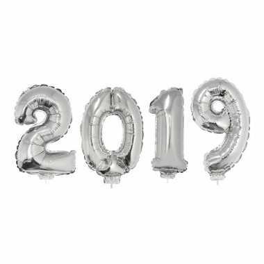 Zilveren 2019 ballonnen voor oud en nieuw