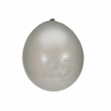 Zilveren 25 jarige ballonnen