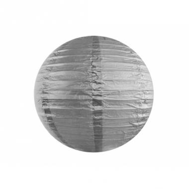 Zilveren bol lampion 35 cm