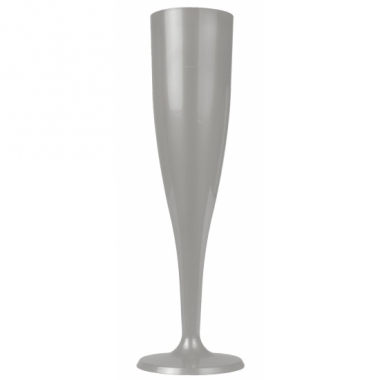 Zilveren champagne glazen 6 stuks