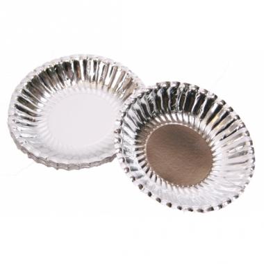Zilveren chips schaaltjes 16 cm