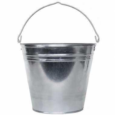 Zilveren drankemmer/drankkoeler 15 liter van zink