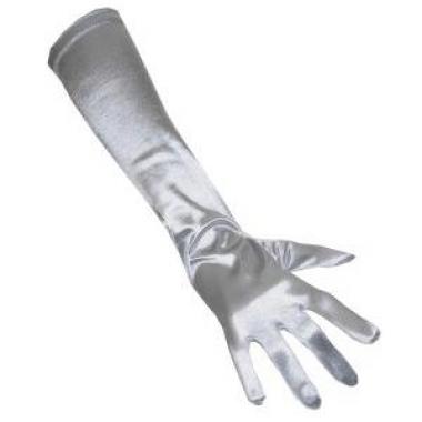 Zilveren gala handschoenen