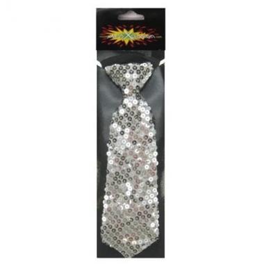 Zilveren glitter stropdassen