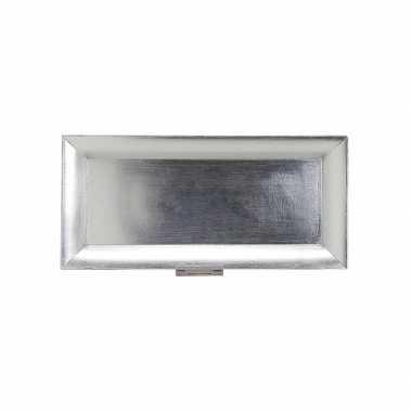 Zilveren kerstbord 36 x 17 cm