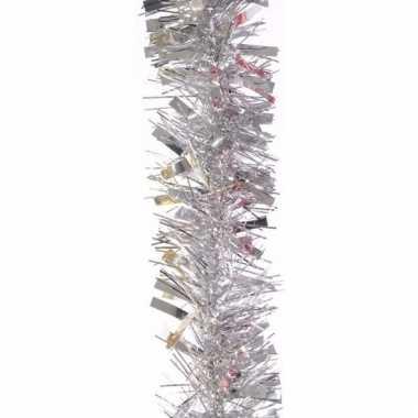 Zilveren lametta guirlande 200 cm