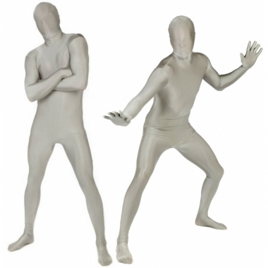 Zilveren morphsuits