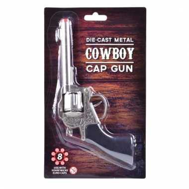 Zilveren plaffertjes revolver 8 schots