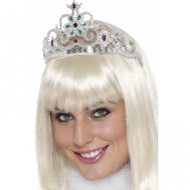 Zilveren prinsessen tiara's