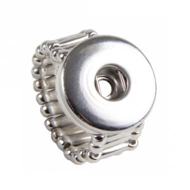 Zilveren ring voor drukknoop