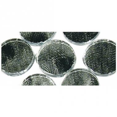 Zilveren ronde mozaiek zelfklevend