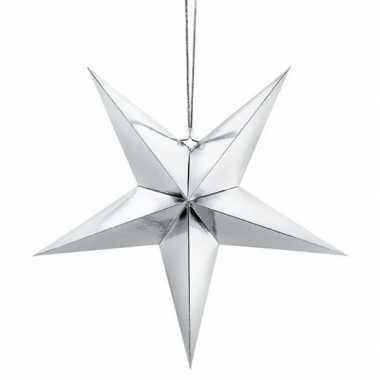 Zilveren ster 30 cm kerst decoratie/versiering