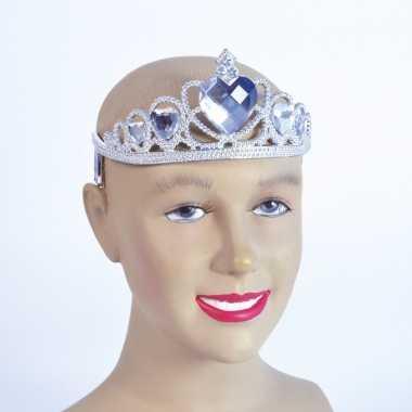 Zilveren tiara met zilveren stenen